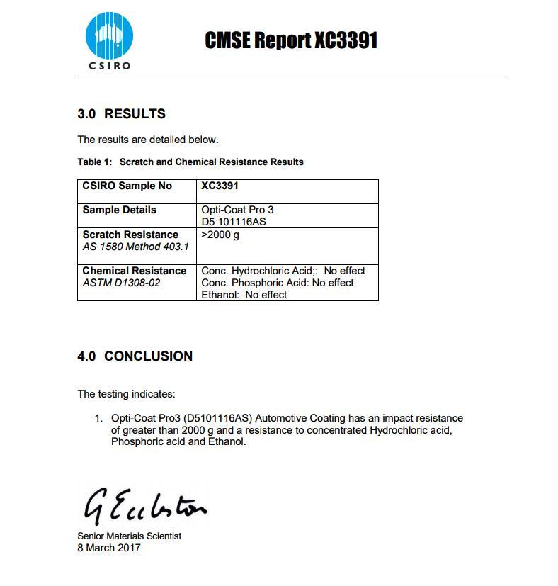CSIRO CMSE Report XC-3391
